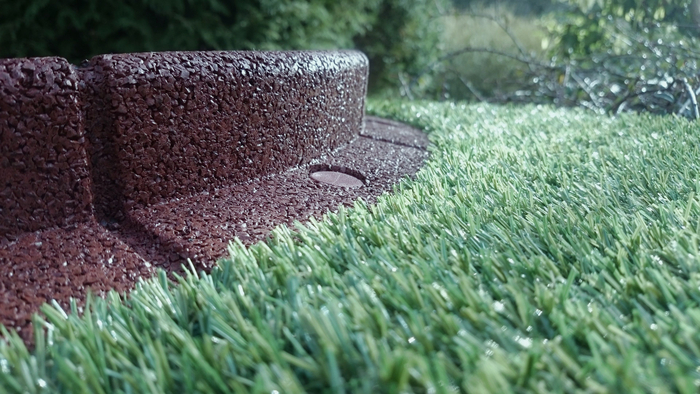 2m Flexi-Border Garden Edging (2x 1m packs) in Brown - H8cm - by EcoBlok