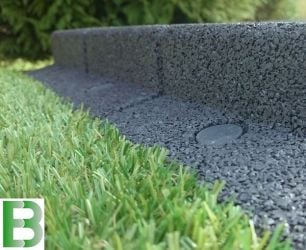 25m Flexi-Border Garden Edging (25x 1m packs) in Grey - H8cm - by EcoBlok