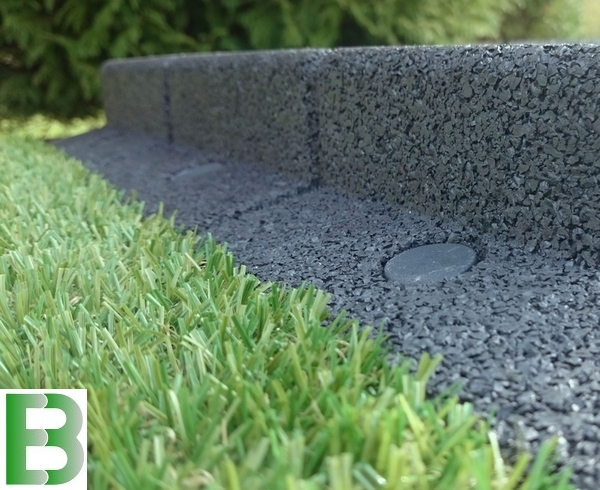 2m Flexi-Border Garden Edging (2x 1m packs) in Grey - H8cm - by EcoBlok