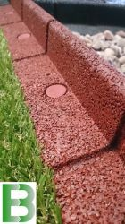 25m Flexi-Border Garden Edging (25x 1m packs) in Red - H8cm - by EcoBlok