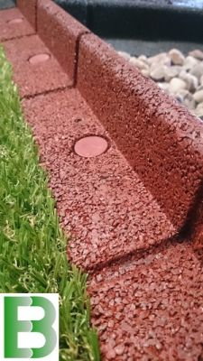 2m Flexi-Border Garden Edging (2x 1m packs) in Red - H8cm - by EcoBlok