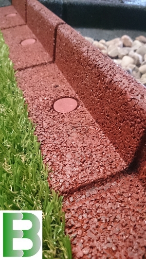 6m Flexi-Border Garden Edging (6x 1m packs) in Red - H8cm - by EcoBlok