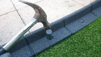 2m Flexi-Border Garden Edging (2x 1m packs) in Black - H8cm - by EcoBlok