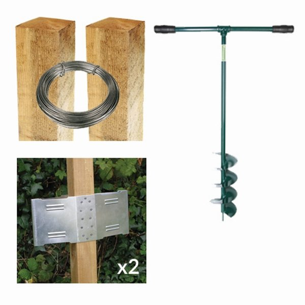 6ft Square Post Screening or Hurdle Advanced Installation Kit - First Panel
