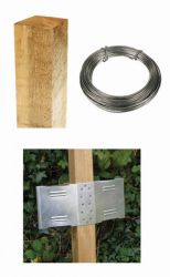6ft Square Post Screening or Hurdle Advanced Installation Kit - Additional Panel