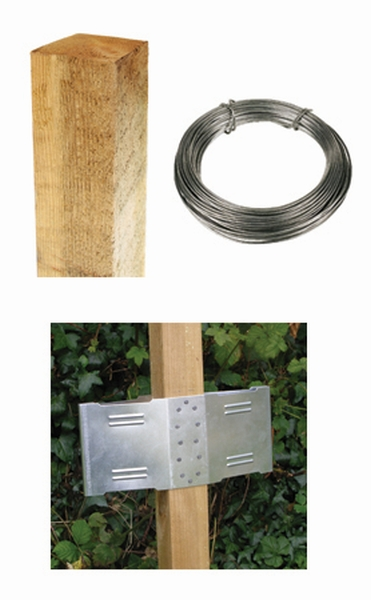 8ft Square Post Screening or Hurdle Advanced Installation Kit - Additional Panel