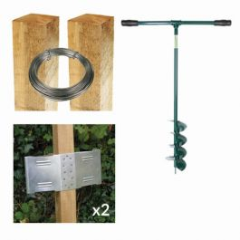 8ft Square Post Screening or Hurdle Advanced Installation Kit - First Panel