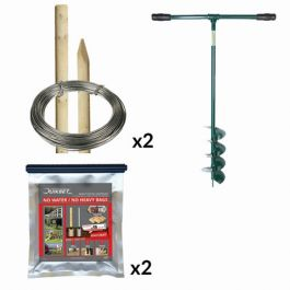 8ft Round Post Screening or Hurdle Quikset Installation Kit - First Panel