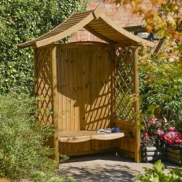 H2.3m (7ft 7in) Tenbury Wooden Arbour FSC® by Rowlinson®