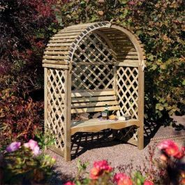 H2m (6ft 7in) Victoria Arched Garden Arbour by Rowlinson®