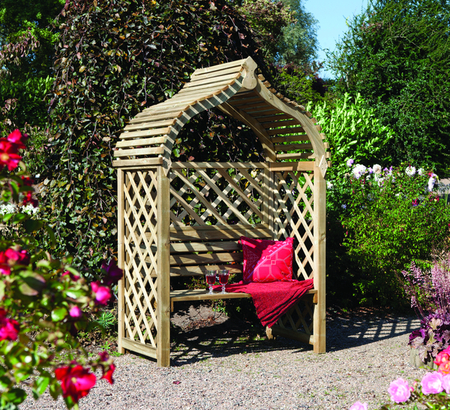 H2m (6ft 7in) Jaipur Wooden Arbour FSC® by Rowlinson®
