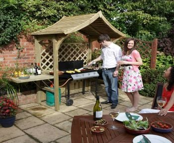 Party Arbour with BBQ Space H2.4m