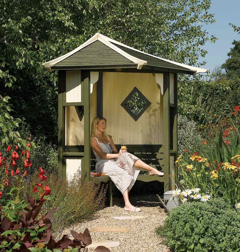 Haven Wooden Corner Arbour H2.5m