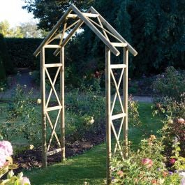 H2.7m (8ft 10in) Rustic Wooden Arch FSC® by Rowlinson®