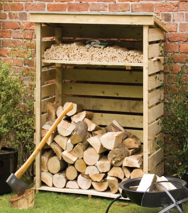 Small Wooden Log store W117cm x H156cm