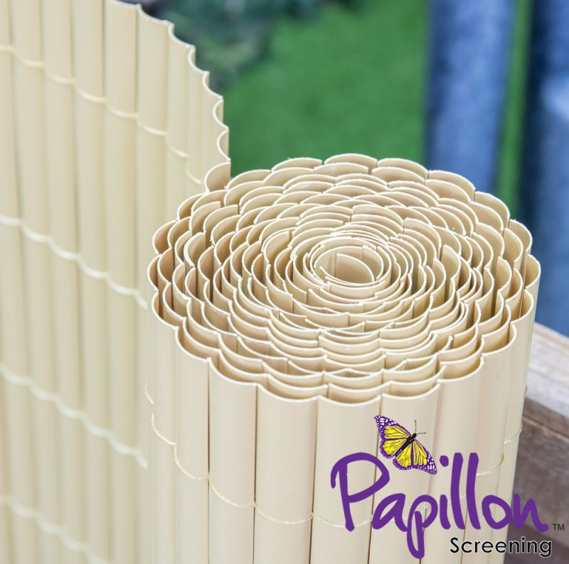 Split Bamboo Artificial Fencing Screening 4.0m x 1.5m (13ft 1in x 5ft) - By Papillon™