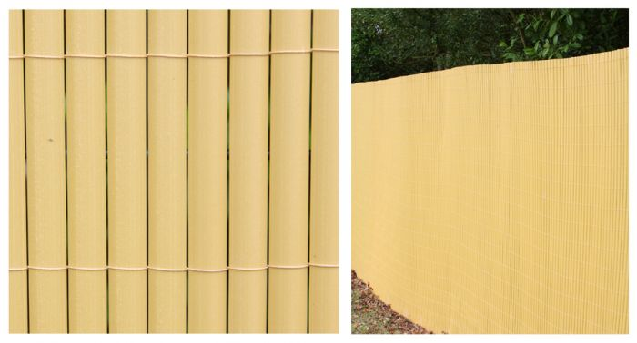 Bamboo Cane Artificial Fencing Screening 4.0m x 2.0m (13ft 1in x 6ft 7in) - By Papillon™