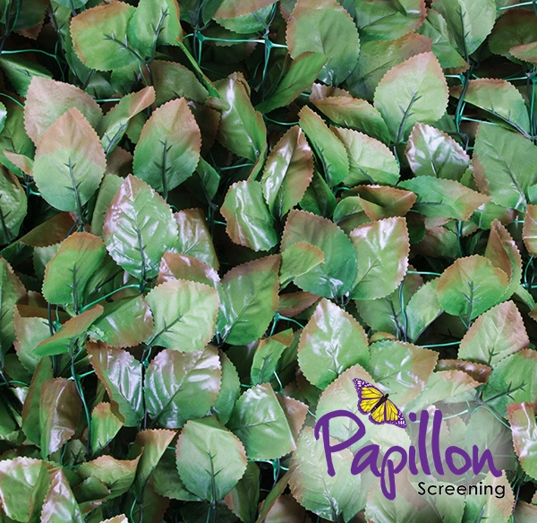 Hazelnut Leaf Artificial Fencing Screening Papillon 3.0m x 1.0m (10ft x 3ft 3in) - By Papillon™