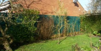 Grey Bamboo Cane Artificial Fencing Screening 4.0m x 2.0m (13ft 1in x 6ft 7in) - By Papillon™