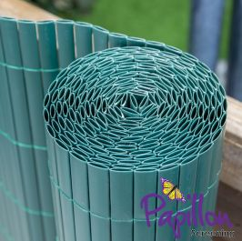 Green Bamboo Cane Artificial Fencing Screening 4.0m x 1.0m (13ft 1in x 3ft 3in) - By Papillon™