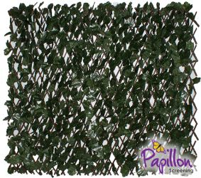 Extendable Artificial English Ivy Fencing Screening Trellis 2.0m x 1.0m (6ft 7in x 3ft 3in) - By Papillon™