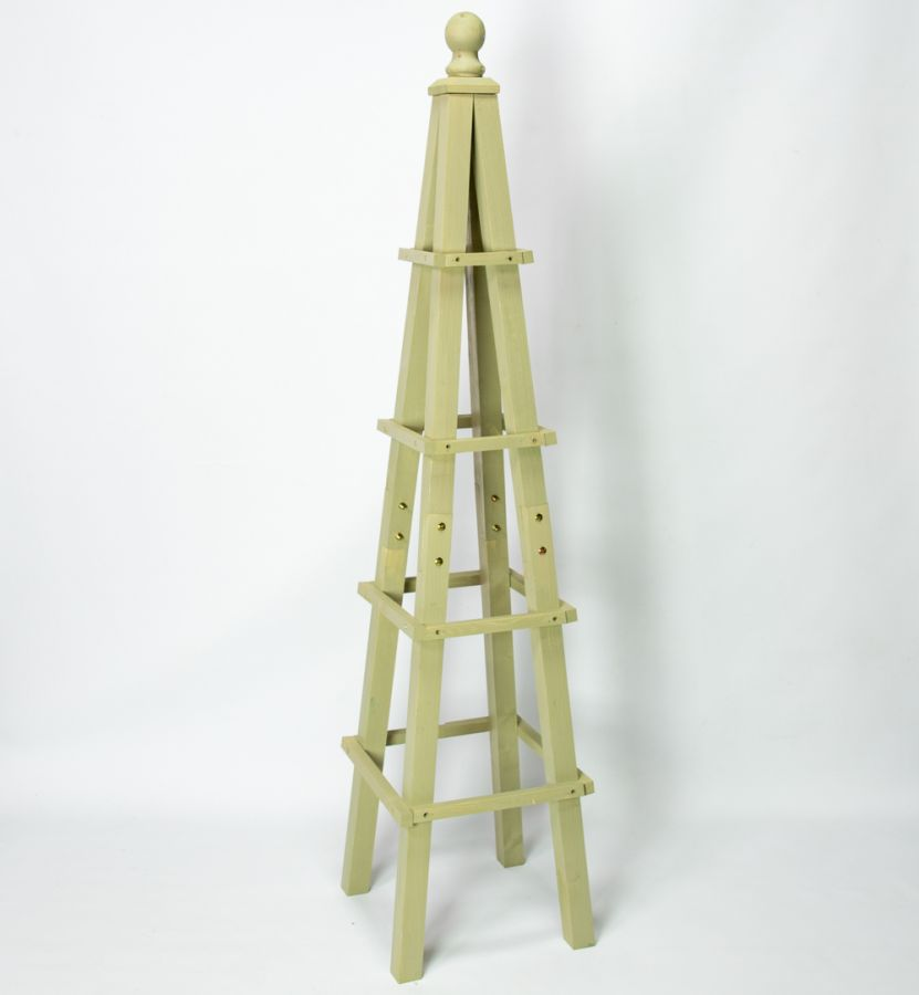 155cm Premium Sage Wooden Obelisk Plant Support by Lacewing™