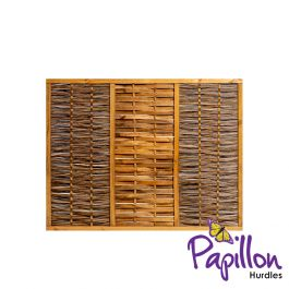 Framed Willow Hurdles Fencing Panels (6ft x 4ft 7in) - By Papillon™