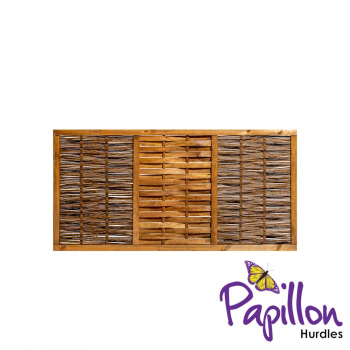 Framed Willow Hurdles Fencing Panels (6ft x 3ft) - By Papillon™