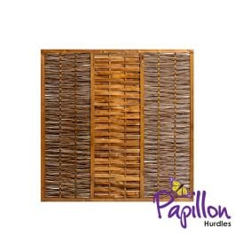 Framed Willow Hurdles Fencing Panels (6ft x 6ft) - By Papillon™