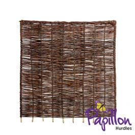 Willow Hurdles Fencing Panel with Rope Finishing (6ft x 6ft) - By Papillon™