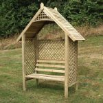 Valencia 2.35m (7ft 8in) Timber Arbour with Bench