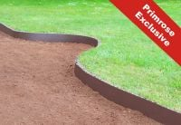 10m Easy Lawn Edging in Brown - H14cm - by Smartedge