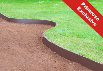 50m Easy Lawn Edging in Brown - H14cm - Smartedge