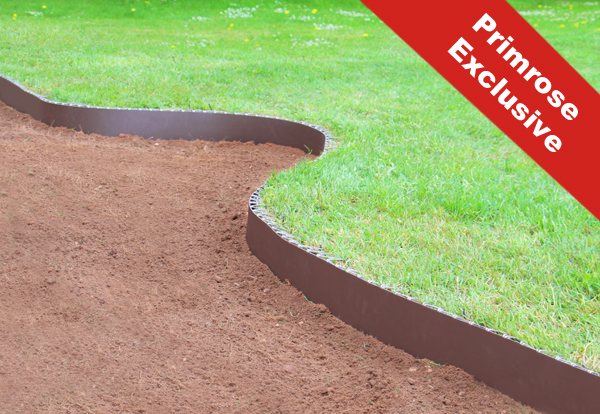 5m Easy Lawn Edging in Brown - H14cm - by Smartedge