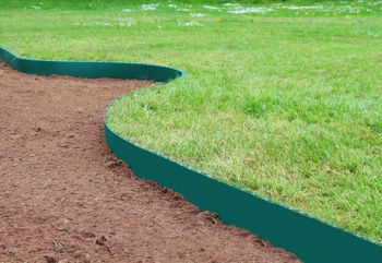 10m Easy Lawn Edging in Green - H14cm - Smartedge