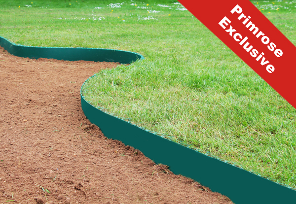 50m Easy Lawn Edging in Green - H14cm - Smartedge