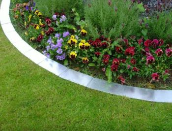 1m Easy Edge Border Edging Strips in Silver