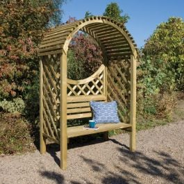 H2.07m (6ft 9in) Keswick 2 Seater Wooden Arbour Bench FSC® by Rowlinson®