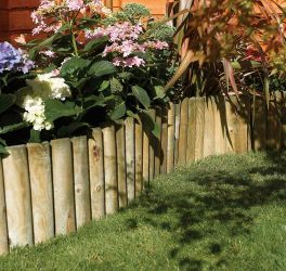 L1.8m Spike Border Roll Pack of 2 FSC® Wood by Rowlinson®