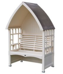 Blenheim 1.36m (4ft 5½ins) Pine Arbour with Trellis
