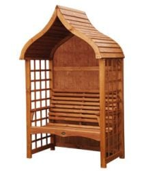 Pavilion 1.36m (4ft 5½ins) Pine Arbour with Trellis