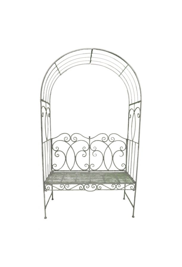 208cm (6ft ¾in) Steel Heritage Arbour - Antique Grey