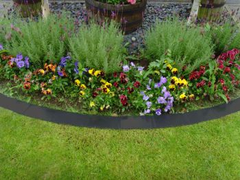 1m Easy Edge Border Edging Strips in Black
