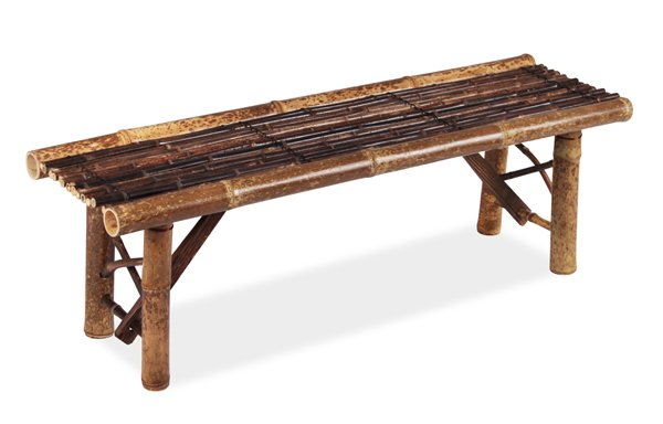 Black 1.2m (4ft) Bamboo Bench
