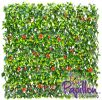 1 x 2m Extendable Artificial Red Flower Screening Trellis (3ft 3in x 6ft 7in) - by Papillon™
