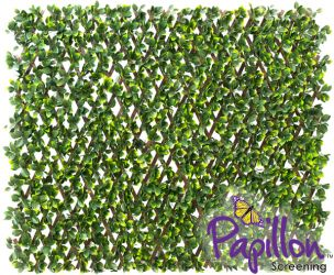 1 x 2m Extendable Artificial Poplar Screening Brown Trellis (3ft 3in x 6ft 7in) - by Papillon™