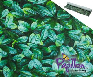 1 x 5m Decorative Leaf Garden Screening Roll (3ft 3in x 16ft 4in) - by Papillon™