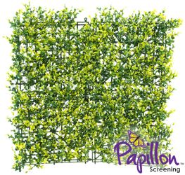 50x50cm Light Buxus Artificial Hedge Panel (1ft 7in x 1ft 7in) - by Papillon™