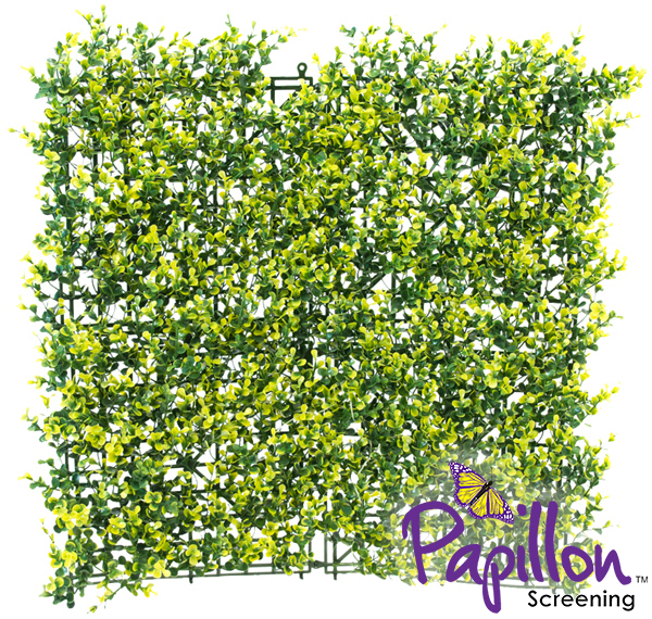 50x50cm Light Buxus Artificial Hedge Panel - by Papillon™ - 4 Pack - 1m²