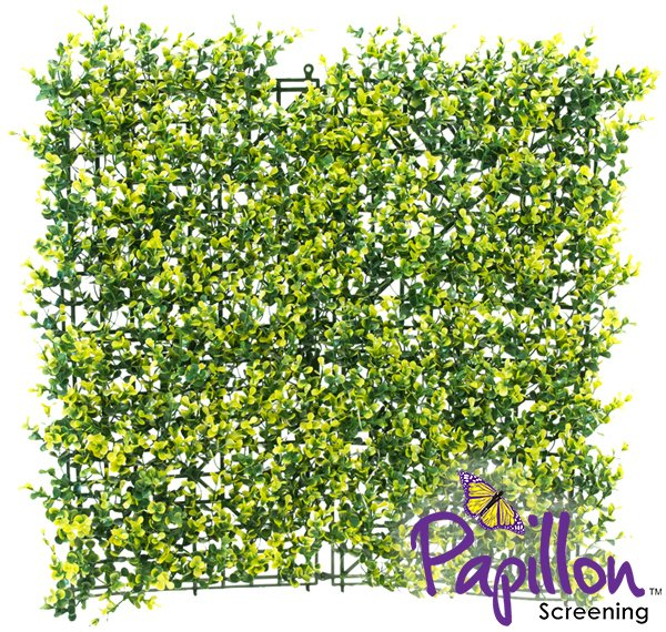 50x50cm Light Buxus Artificial Hedge Panel - by Papillon™ - 16 Pack - 4m²